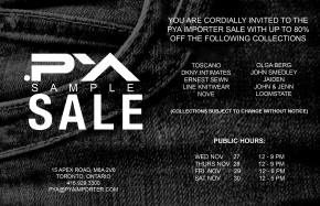 PYA Sample Sale