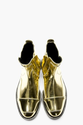 JUUN.J Metallic Gold Leather Boots 1