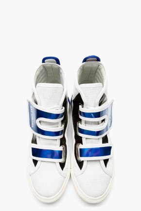 Raf Simons Etched Leather High Top $790