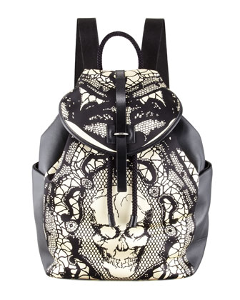 Alexander McQueen Skull & Lace Backpack