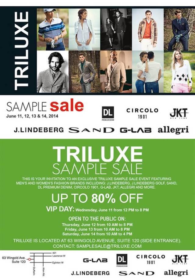 Triluxe Sample Sale